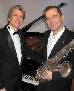 Musiker für Hochzeit: Pianist mit Saxophonist